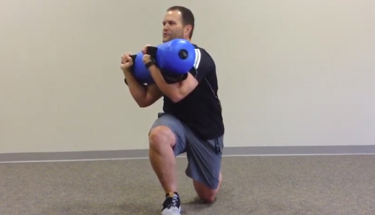 Torso rotational lunge with AQUA Bag
