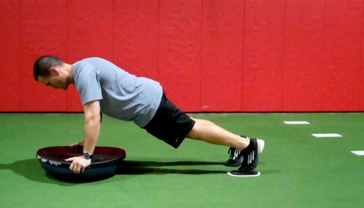 Unstable Plank with Sliding Hip Flexion (BT start)