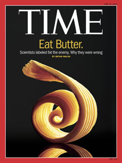 Time magazine cover featuring butter