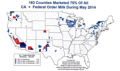 dairy regions in U.S.