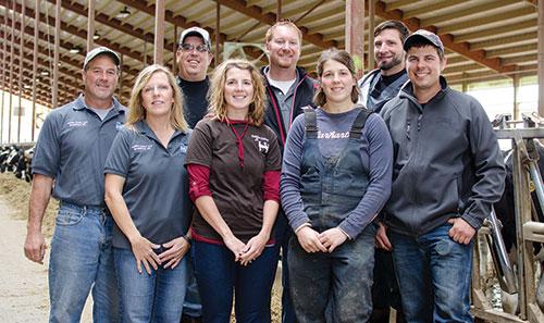 Collins Dairy team