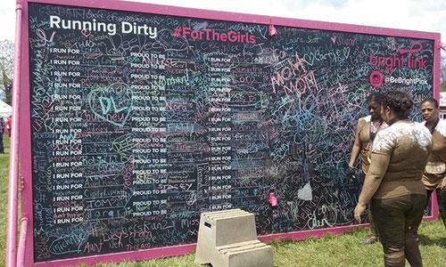 Running Dirty Board at Dirty Girl Run